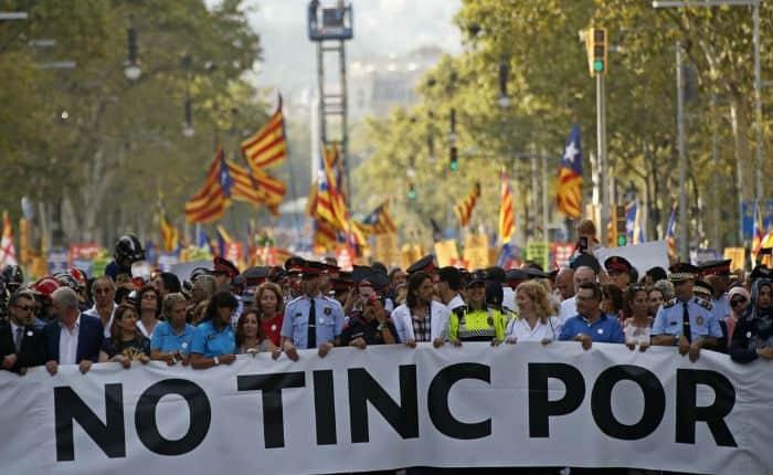 """Manifestación en Barcelona: """"No tinc por"""""""