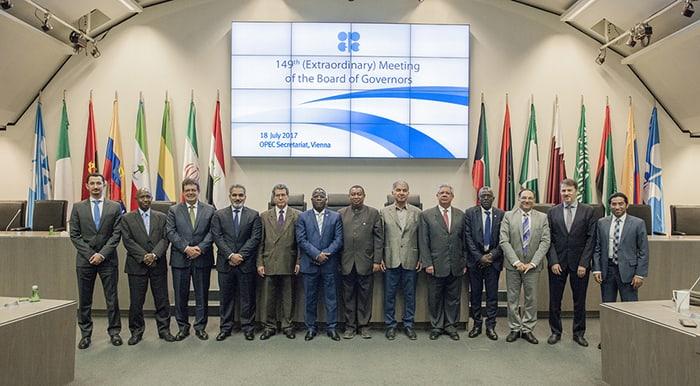 Una de las últimas reuniones de los miembros de la OPEP.