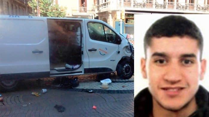 Younes Abouyaaqoub, identificado como el conductor de la furgoneta del atentado de La Rambla de Barcelona