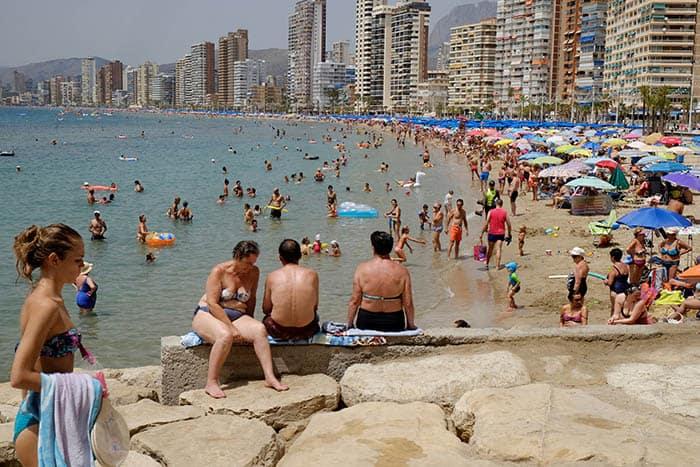 Benidorm, uno de los destinos de playa preferidos en España.