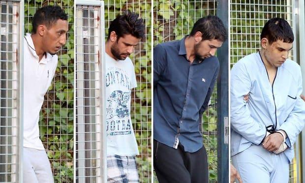 Driss Oukabir, Mohammed Aallaa, Salah el Karib y Mohamed Houli Chemla, detenido.