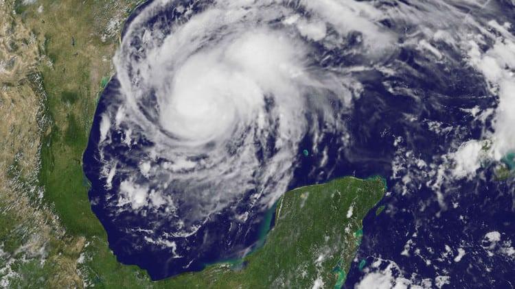 El huracán Harvey en el oeste del Golfo de México, el 24 de agosto de 2017.