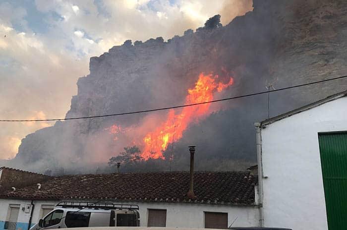 Incendio en Falces, en Navarra.