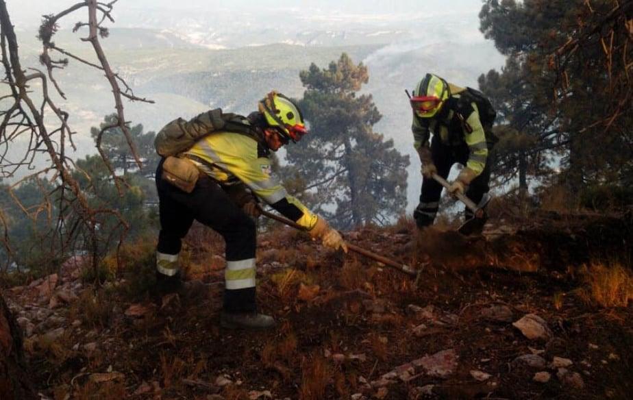 Incendio de Yeste, en la provincia de Albacete.