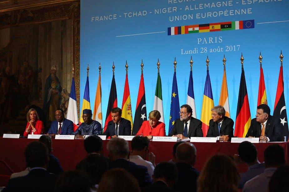 Líderes de la Unión Europea (UE) en la Cumbre de París