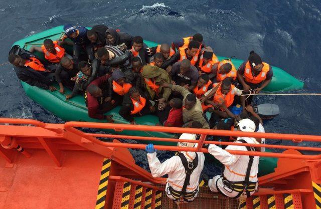 Migrantes - Salvamento marítimo