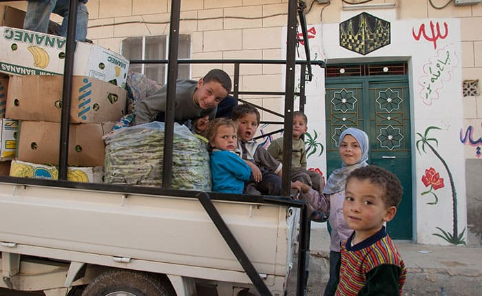 Niños en Raqqa, Siria