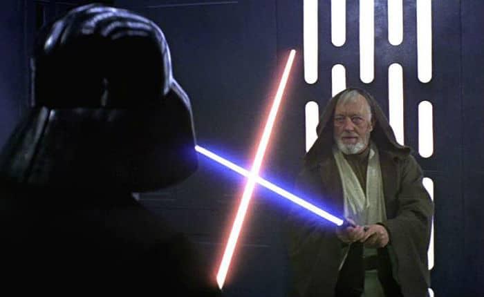 Darth Vader enfrentando a Obi-Wan Kenobi