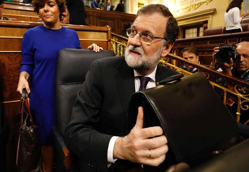 Rajoy, antes de su comparecencia por el caso Gürtel.