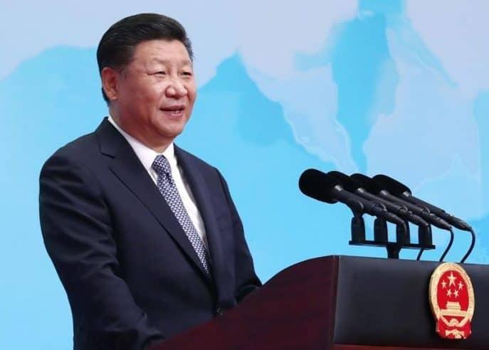 BRICS El presidente de China, Xi Jinping, pronuncia un discurso de apertura durante la ceremonia de inauguración del Foro Empresarial del BRICS en Xiamen