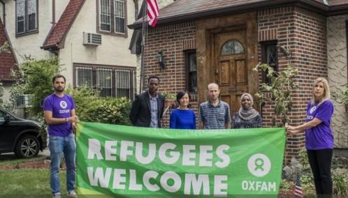 Refugiados. La ONG aloja a dos refugiados de Somalia, uno de Siria y otra de Vietnam en la vivienda en la que Donald Trump vivió cuando era un niño en el barrio neoyorquino de Queens.