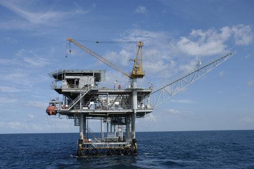 Plataforma del parque eólico marino West of Duddon Sands, construido y gestionado por Iberdrola
