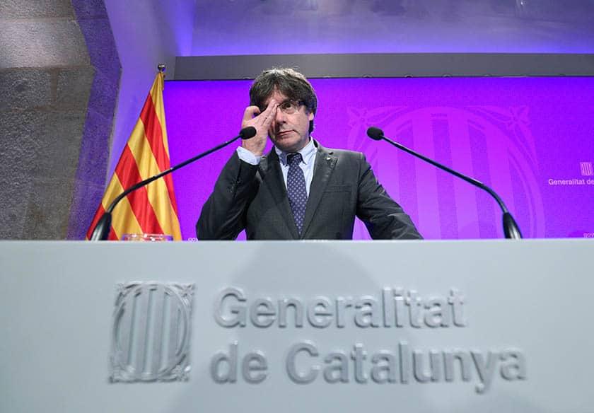 Puigdemont afronta uno de los días clave en la crisis catalana.
