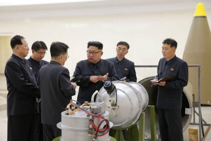 Bomba de hidrógeno probada por Corea del Norte.