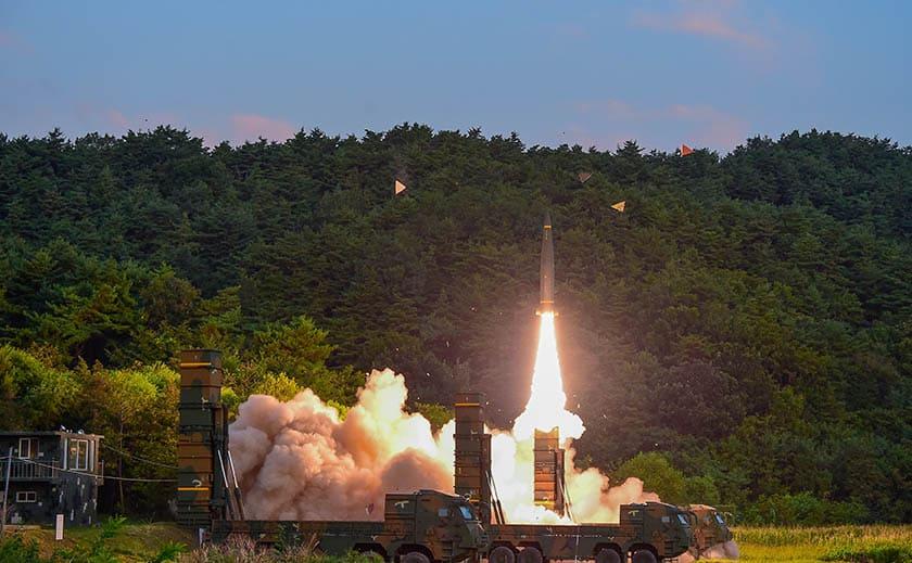 Fuego empleado por Corea del Sur en respuesta a Pyongyang.
