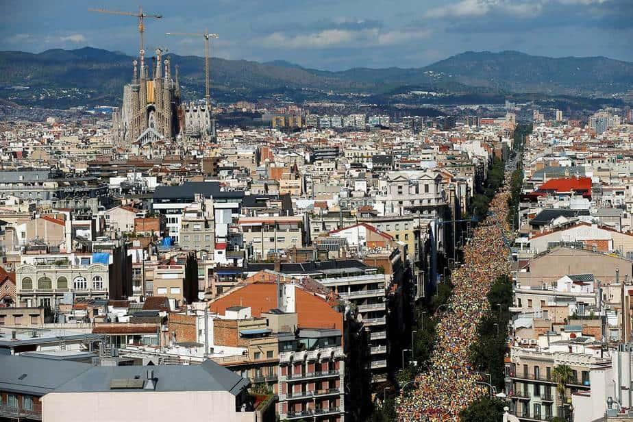 Celebración de la Diada -Día de Cataluña- en las calles de Barcelona (11/9/2017) Reuters.