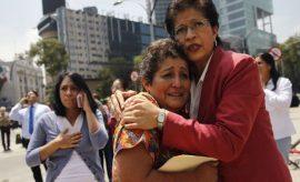 Habitantes de Ciudad de México asustados tras el sismo