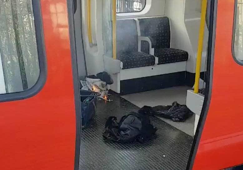 Explosión en el metro de Londres.