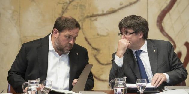 Oriol Junqueras y Carles Puigdemont - Cataluña