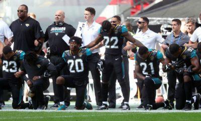 Los Baltimore Ravens en protesta
