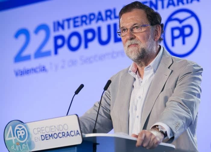 Rajoy ha apelado a la democracia durante la Interparlamentaria del PP.