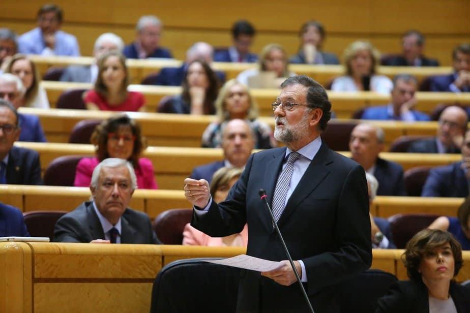 Rajoy en el Senado.