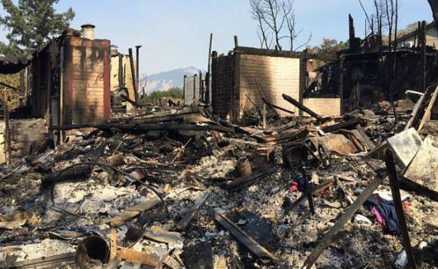 Casa de los padres de Michella Flores destruida por los incendios