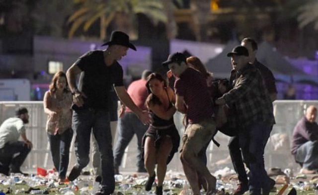 Durante el tiroteo en Las Vegas