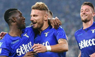 El Lazio en plena celebración
