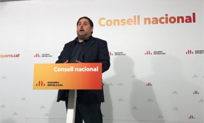 Oriol Junqueras en el Consell Nacional