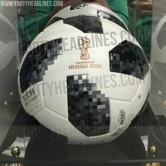 El balón Adidas Telstar 18 rodará en el Mundial de Rusia. Foto: Footy Headlines