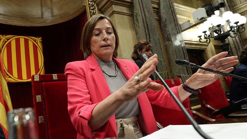 La presidenta del cesado Parlament de Cataluña, Carme Forcadell.