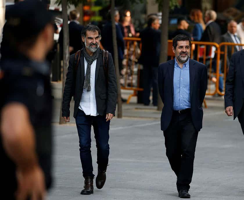 Los presidentes de las entidades soberanistas de Cataluña, dirigiéndose al Tribunal Supremo.