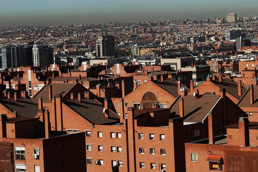Capa de contaminación en Madrid.