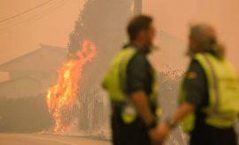 Incendios en Galicia.