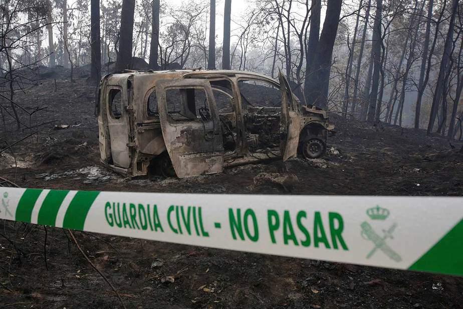 Incendio infernal en Galicia