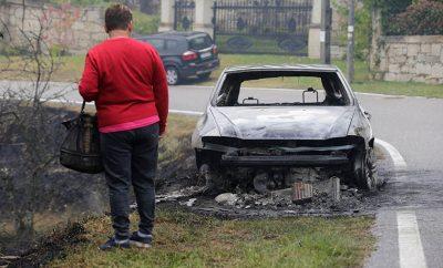 Consecuencias de los incendios en Galicia.