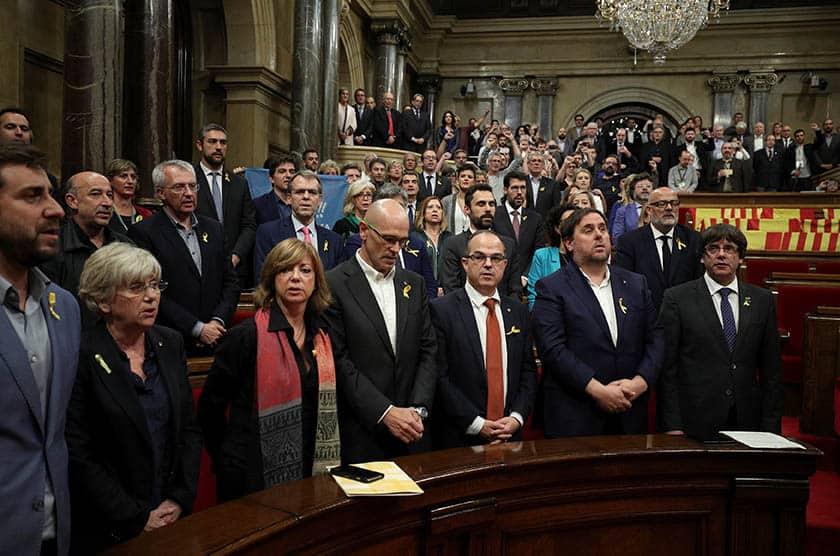 Declaración de la independencia en Cataluña.