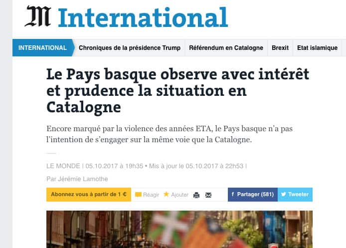 Le Monde habla con el director de Cambio 16.