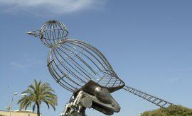 La escultura de Luis Quintero.