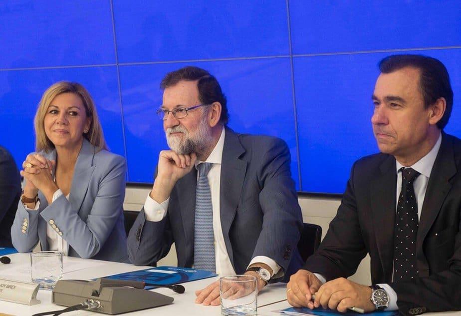Mariano Rajoy, constató este lunes ante la dirección del PP que enCataluñase van asumiendo con normalidad las medidas