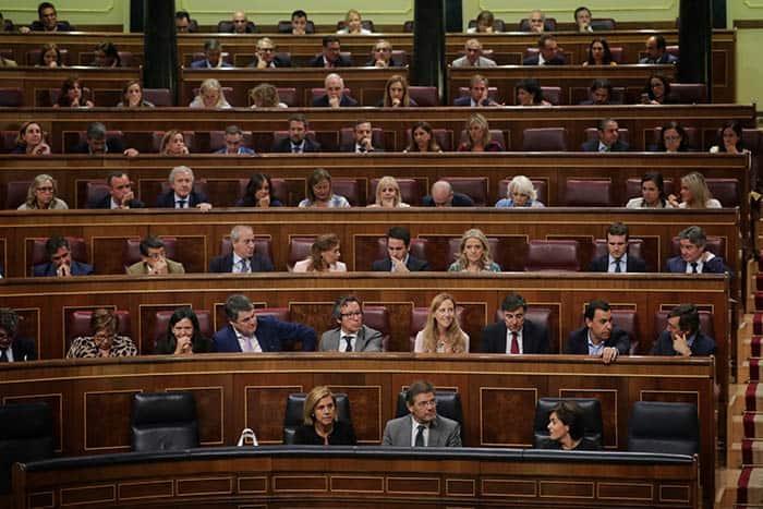 Grupo parlamentario del PP en el Congreso.