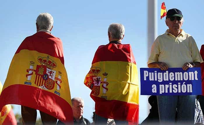 Manifestación en Cataluña por la unidad de España. Reuters