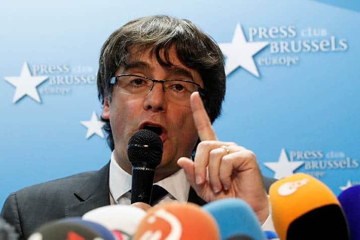 Comparecencia de Puigdemont en Bruselas.