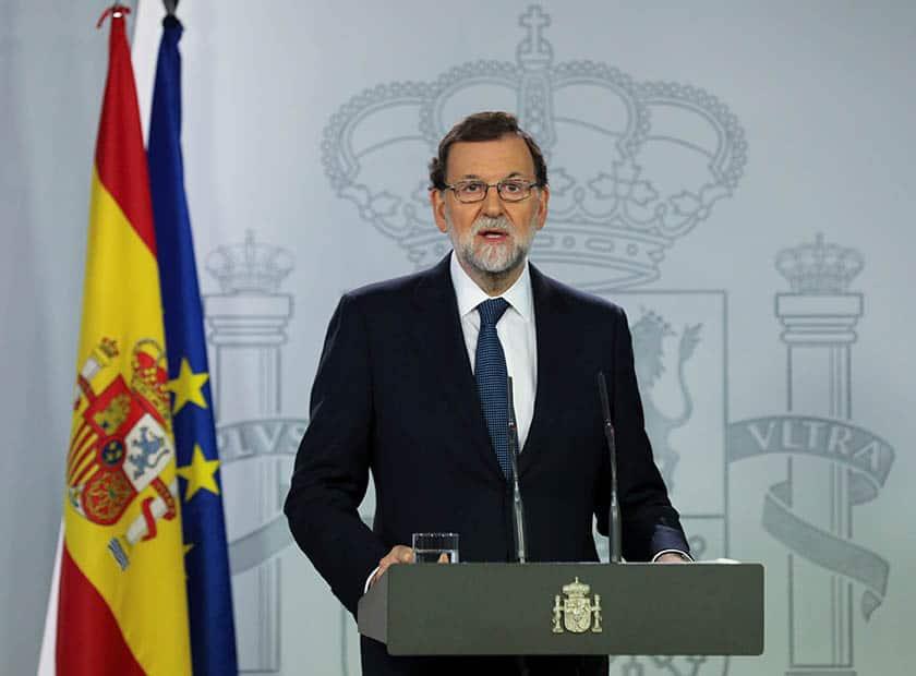 Declaración de Rajoy sobre Cataluña.