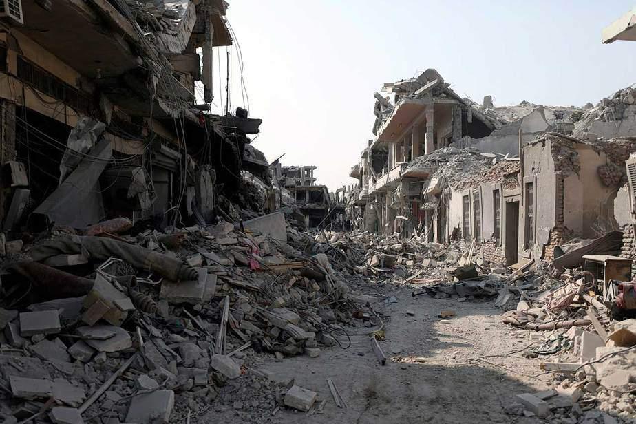 Un vecindario dañado en Raqqa el 16 de septiembre. (Reuters / Rodi Said)
