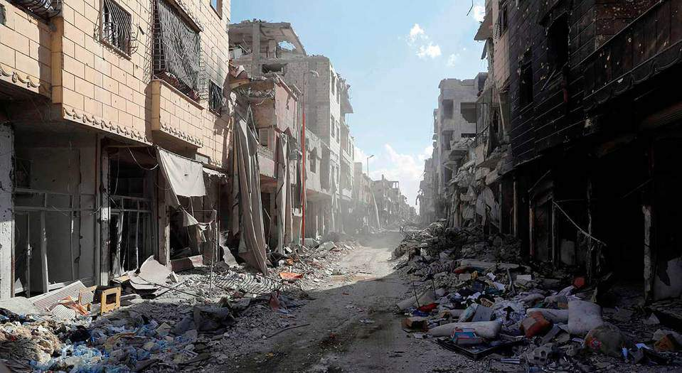 Una vista de la Ciudad Vieja de Raqqa, destruida durante una batalla con militantes del Estado Islámico el 1 de octubre (Reuters / Erik De Castro)