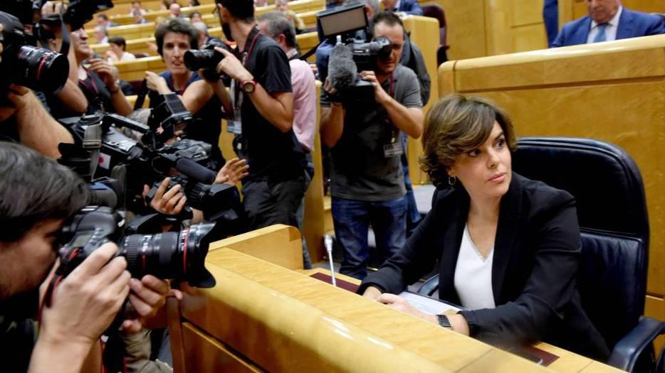 Sáenz de Santamaría, en el Senado.