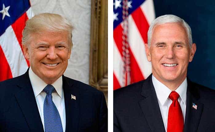 Las nuevas fotos oficiales de Trump y Pence