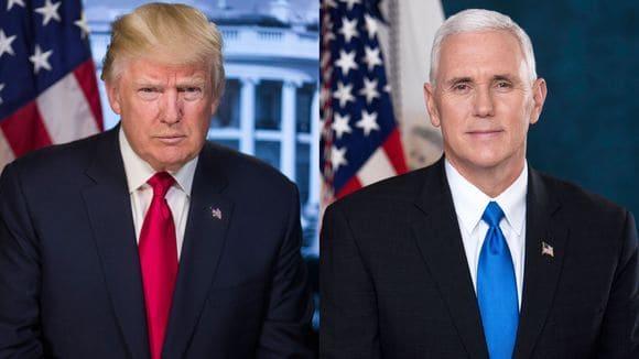 Las primeras fotos oficiales de Trump y Pence